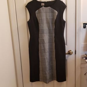 Anne Klein Dress Houndstooth Pattern Size 14